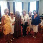 Εορτασμός Αγίας  Σοφίας Μερόπειου, η πρόεδρος της ΕΦΕΛΣ με την πρόεδρο του Μερόπειου και την  Μαρίζα Κωχ